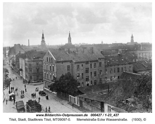 Tilsit, Memelstraße Ecke Wasserstraße