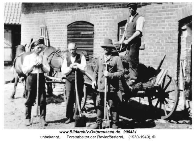 Wittken, Forstarbeiter der Revierförsterei
