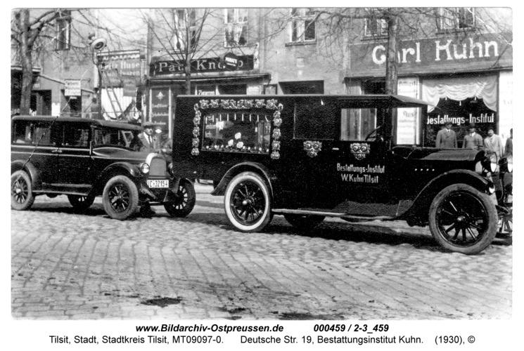 Tilsit, Deutsche Str. 19, Bestattungsinstitut Kuhn
