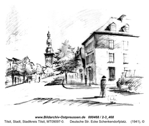 Tilsit, Deutsche Str. Ecke Schenkendorfplatz