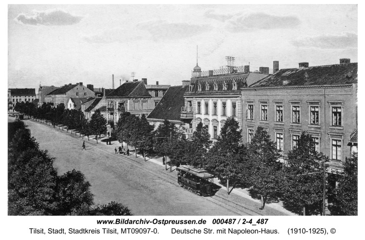Tilsit, Deutsche Str. mit Napoleon-Haus