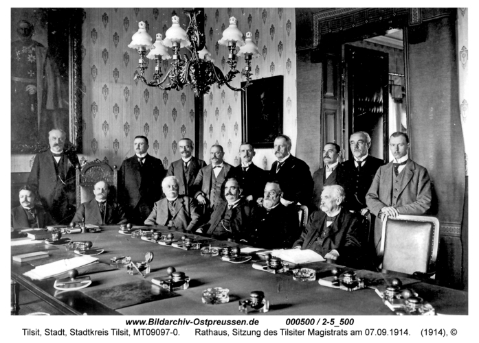 Tilsit, Rathaus, Sitzung des Tilsiter Magistrats am 07.09.1914