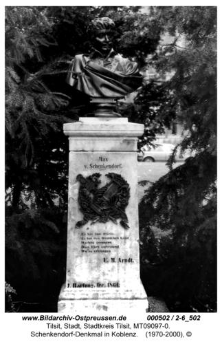Koblenz, Schenkendorf-Denkmal in Koblenz