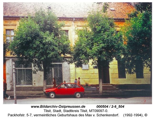 Tilsit, Packhofstr. 5-7, vermeintliches Geburtshaus des Max v. Schenkendorf