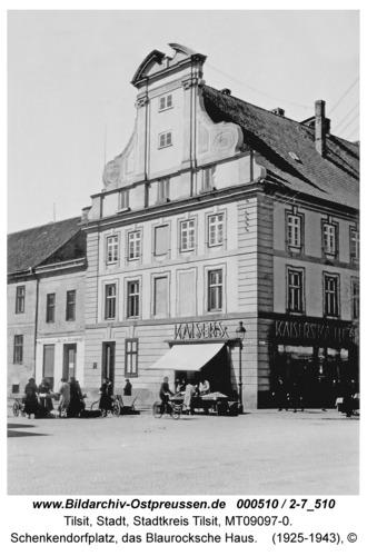 Tilsit, Schenkendorfplatz, das Blaurocksche Haus