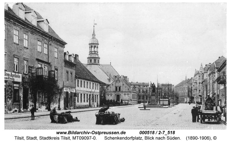 Tilsit, Schenkendorfplatz, Blick nach Süden