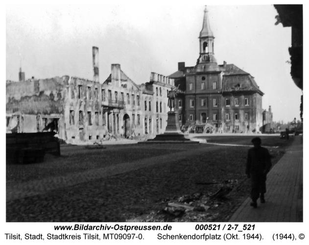 Tilsit, Schenkendorfplatz (Okt. 1944)