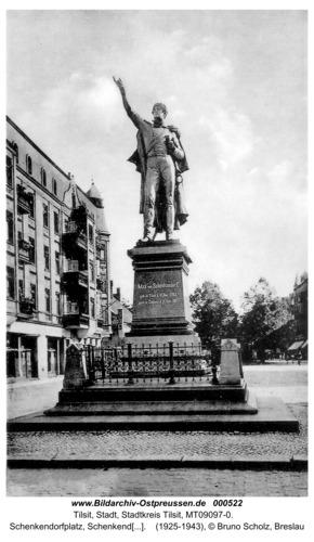 Tilsit, Schenkendorfplatz, Schenkendorf-Denkmal