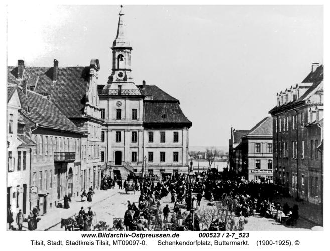 Tilsit, Schenkendorfplatz, Buttermarkt