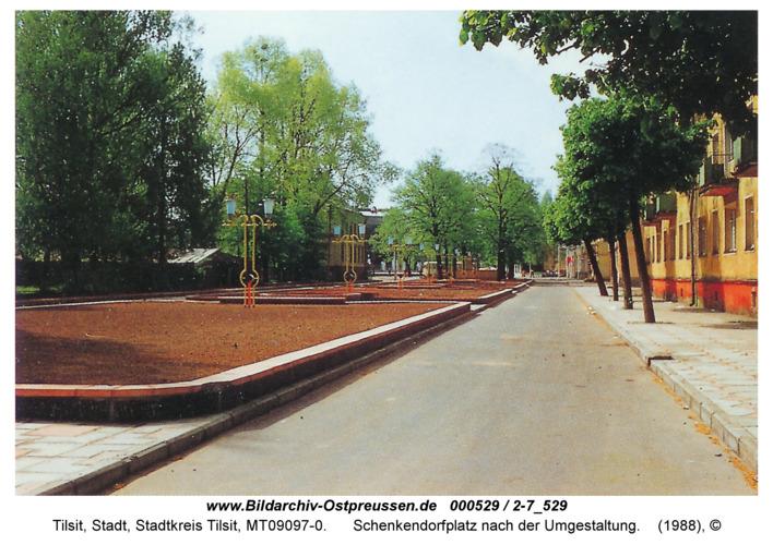 Tilsit, Schenkendorfplatz nach der Umgestaltung