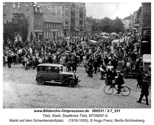 Tilsit, Markt auf dem Schenkendorfplatz