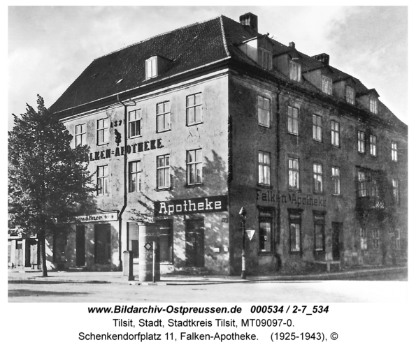 Tilsit, Schenkendorfplatz 11, Falken-Apotheke