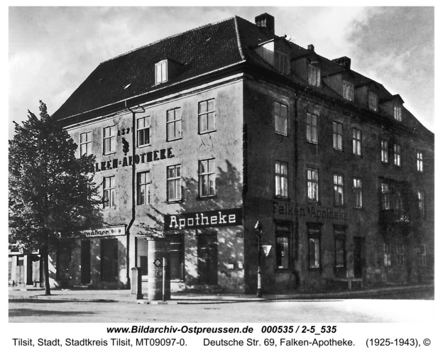 Tilsit, Deutsche Str. 69, Falken-Apotheke