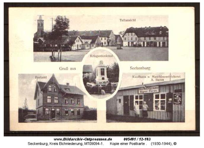 Seckenburg, Kopie einer Postkarte