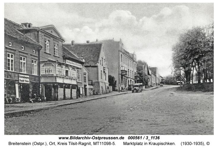 Breitenstein, Marktplatz in Kraupischken