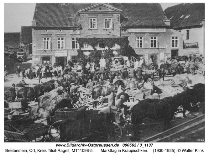 Breitenstein, Markttag in Kraupischken