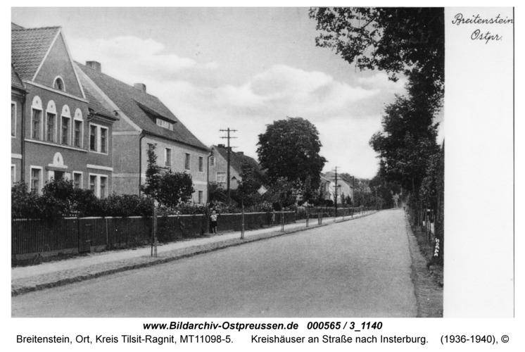Breitenstein, Kreishäuser an Straße nach Insterburg