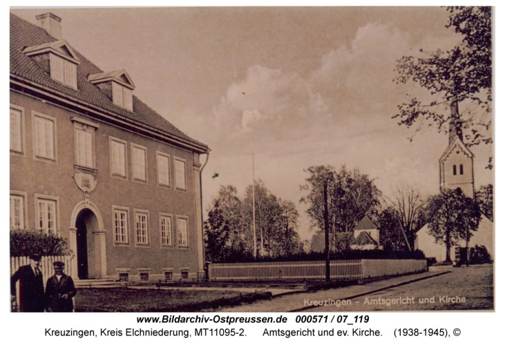 Kreuzingen, Amtsgericht und ev. Kirche