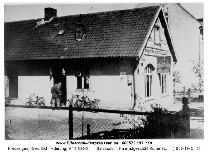 Kreuzingen, Bahnhofstr., Fahrradgeschäft Kummetz
