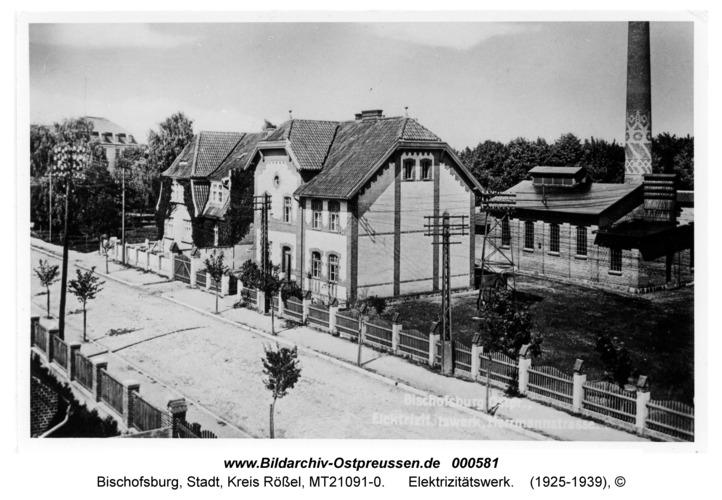Bischofsburg, Elektrizitätswerk