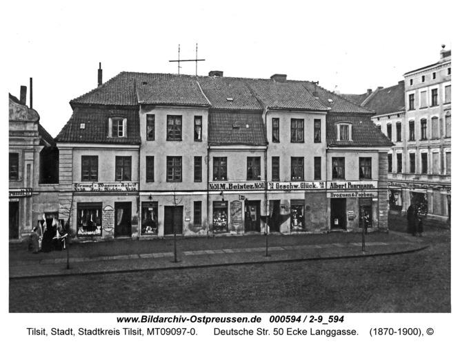 Tilsit, Deutsche Str. 50 Ecke Langgasse