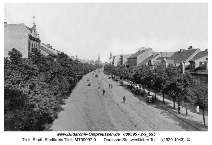 Tilsit, Deutsche Str., westlicher Teil