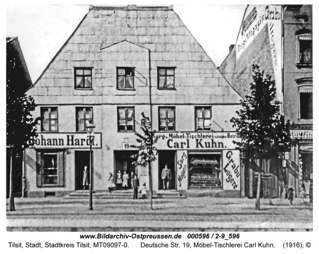 Tilsit, Deutsche Str. 19, Möbel-Tischlerei Carl Kuhn