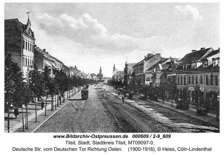 Tilsit, Deutsche Str. vom Deutschen Tor Richtung Osten
