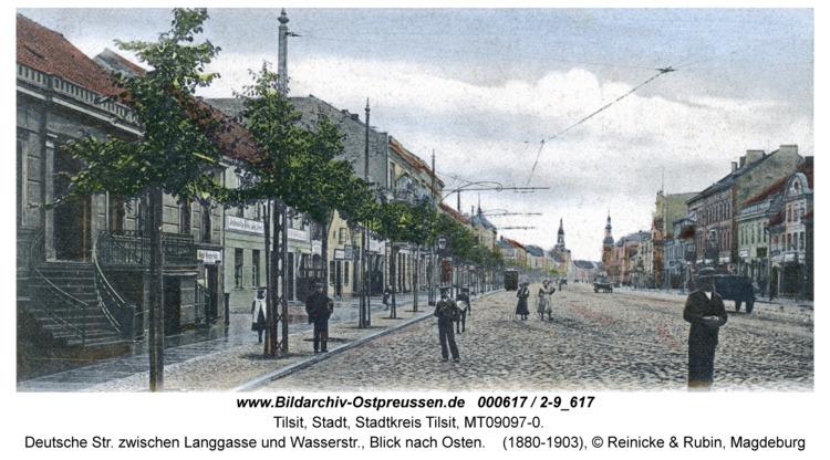 Tilsit, Deutsche Str. zwischen Langgasse und Wasserstr., Blick nach Osten