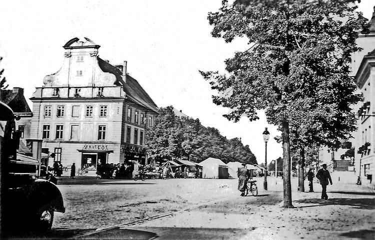 Tilsit, Deutsche Str., Herbst-Jahrmarkt am Blaurockschen Haus