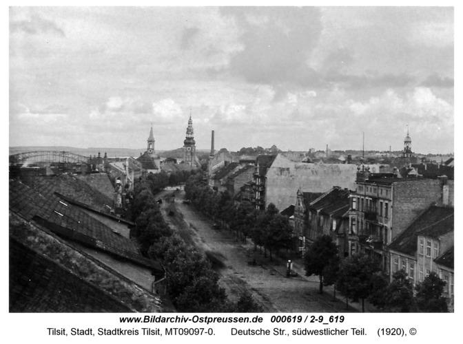 Tilsit, Deutsche Str., südwestlicher Teil