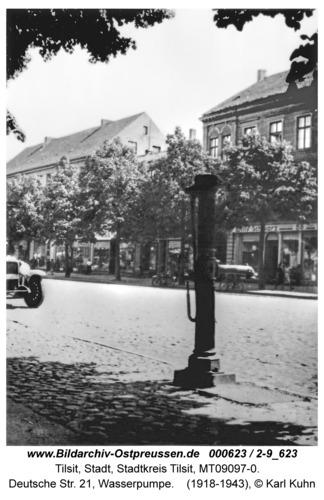 Tilsit, Deutsche Str. 21, Wasserpumpe