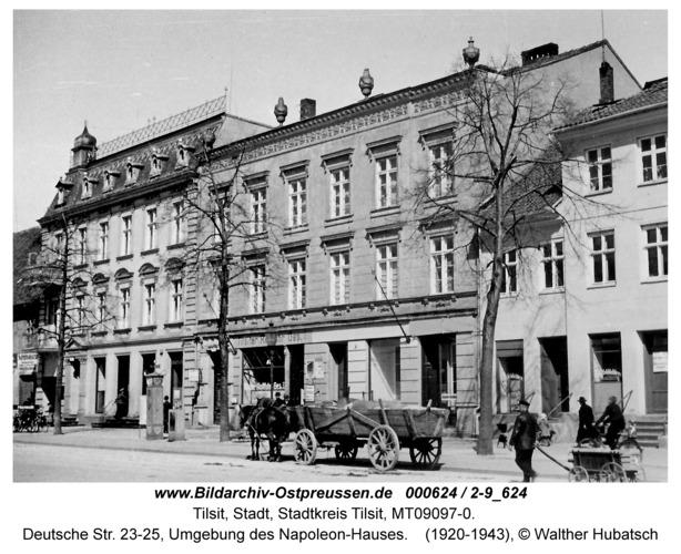 Tilsit, Deutsche Str. 23-25, Umgebung des Napoleon-Hauses