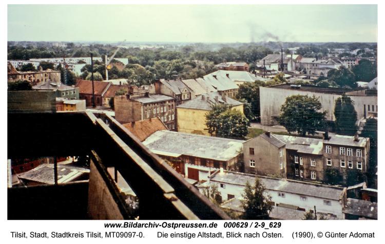 Tilsit, Die einstige Altstadt, Blick nach Osten