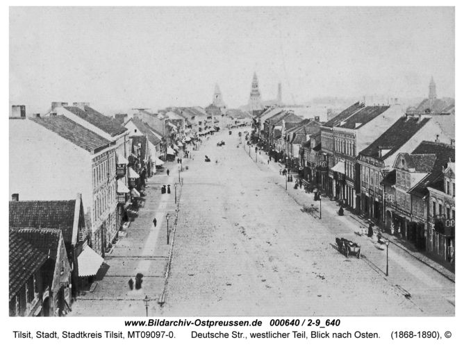 Tilsit, Deutsche Str., westlicher Teil, Blick nach Osten