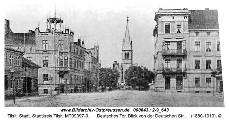 Tilsit, Deutsches Tor, Blick von der Deutschen Str.