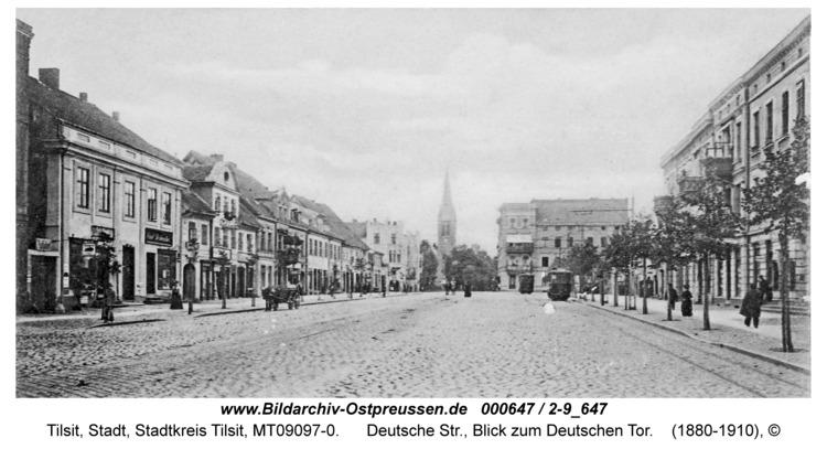 Tilsit, Deutsche Str., Blick zum Deutschen Tor