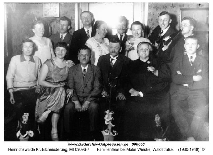 Heinrichswalde, Familienfeier bei Maler Wieske, Waldstraße