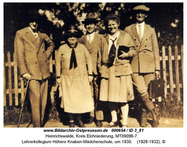 Heinrichswalde, Lehrerkollegium Höhere Knaben-Mädchenschule, um 1930