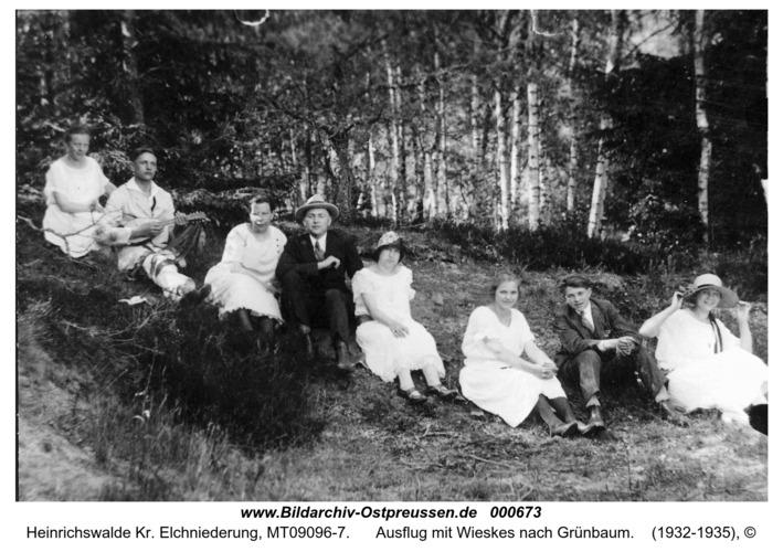 Heinrichswalde, Ausflug mit Wieskes nach Grünbaum