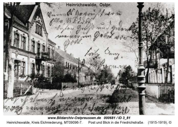 Heinrichswalde, Post und Blick in die Friedrichstraße