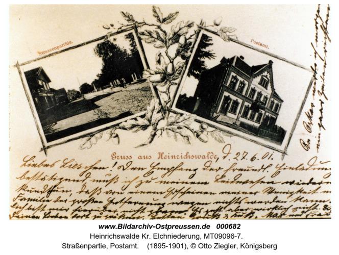 Heinrichswalde Kr. Elchniederung, Straßenpartie, Postamt