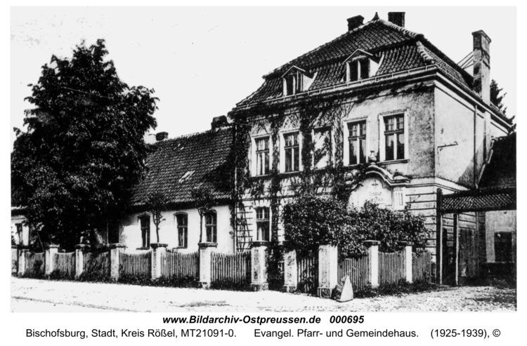 Bischofsburg, Evangel. Pfarr- und Gemeindehaus