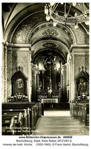 Bischofsburg, Inneres der kath. Kirche