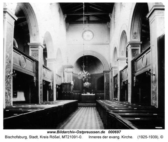 Bischofsburg, Inneres der evang. Kirche