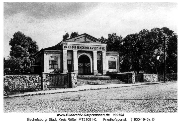 Bischofsburg, Friedhofsportal