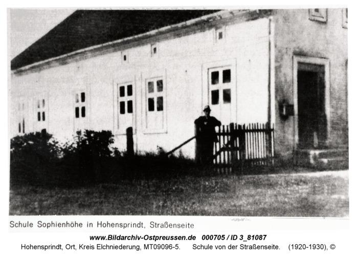 Hohensprindt, Schule von der Straßenseite