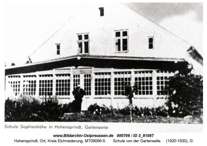 Hohensprindt, Schule von der Gartenseite