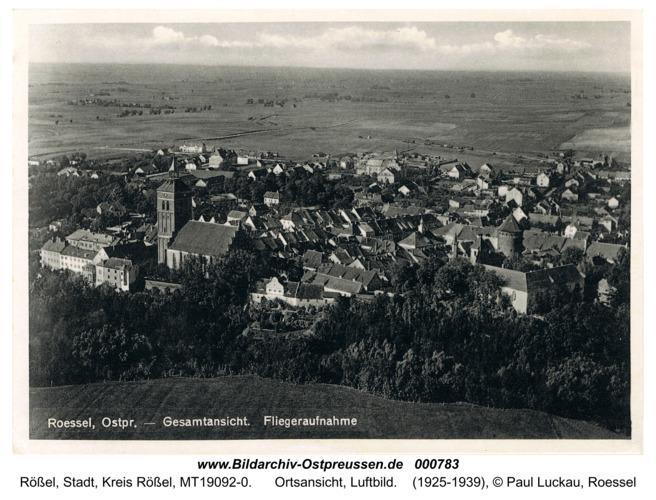 Rößel, Ortsansicht, Luftbild