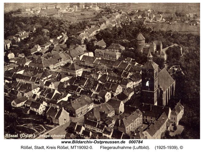 Rößel, Fliegeraufnahme (Luftbild)